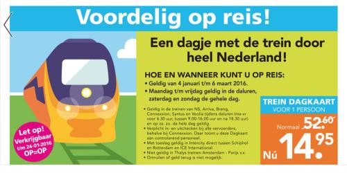 [Grenzgänger NL] Blokker bietet ermäßigte Tageskarten für Bahnfahrten in den Niederlanden