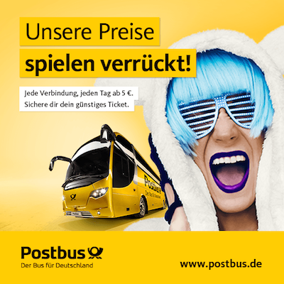 [Postbus] Crazy Winter Tickets ab 5€
