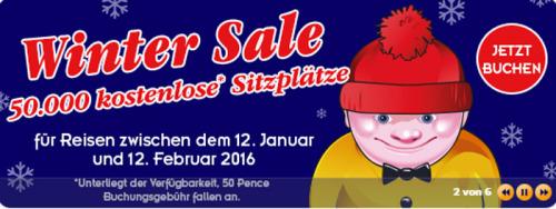 [Megabus] Winter Sale – 50.000 Gratistickets, nur 0,5 £ Gebühr