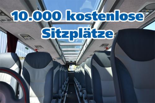 [DeinBus] 10.000 kostenlose Sitzplätze
