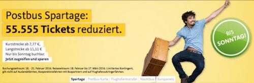 [Postbus] 55.555 Tickets ab 7,77€