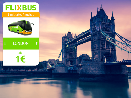 [Flixbus] ab 1€ nach London